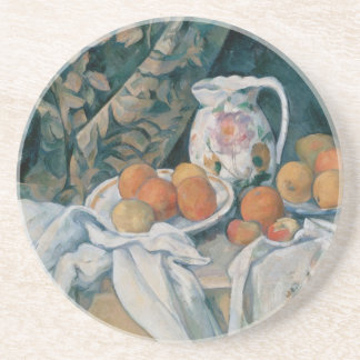 Still Life with a Curtain by Paul Cezanne Coaster