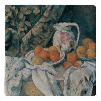 Still Life with a Curtain by Paul Cezanne Trivet