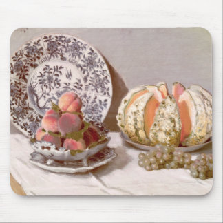 Still Life with a Melon - Claude Monet Mouse Pad