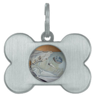 ''Still Life with a Skull'' Collection Pet Name Tag