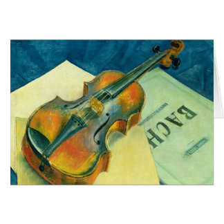 Still Life with a Violin, 1921 Card