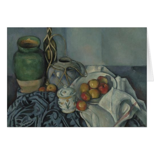 Still life with Apple, Paul Cézanne, Note Card