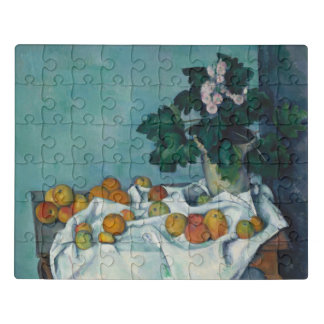 Still Life with Apples and a Pot of Primroses Jigsaw Puzzle