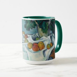 Still Life with Apples and a Pot of Primroses Mug