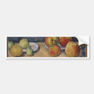 Still Life with Apples and Pears Bumper Sticker