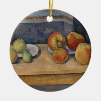 Still Life with Apples and Pears Ceramic Ornament