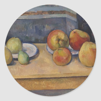 Still Life with Apples and Pears Classic Round Sticker