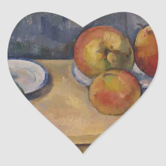 Still Life with Apples and Pears Heart Sticker