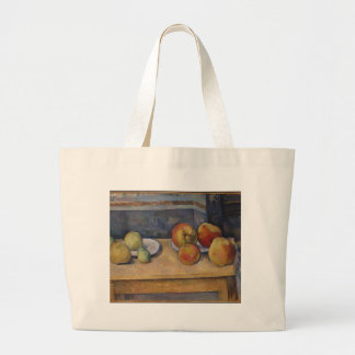 Still Life with Apples and Pears Large Tote Bag