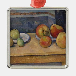 Still Life with Apples and Pears Metal Ornament
