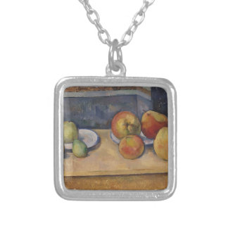 Still Life with Apples and Pears Silver Plated Necklace