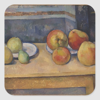 Still Life with Apples and Pears Square Sticker