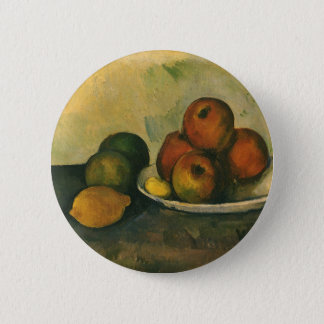 Still Life with Apples by Paul Cezanne 2 Inch Round Button