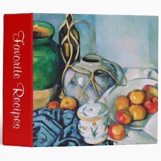Still Life with Apples, Paul Cézanne Vinyl Binders