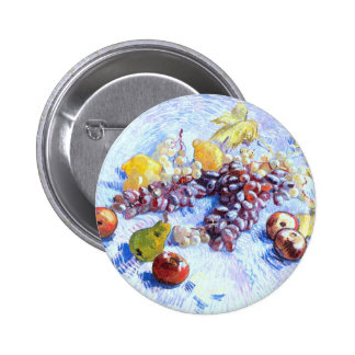 Still Life with Apples, Pears, Grapes - Van Gogh 2 Inch Round Button