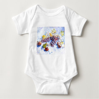 Still Life with Apples, Pears, Grapes - Van Gogh Baby Bodysuit