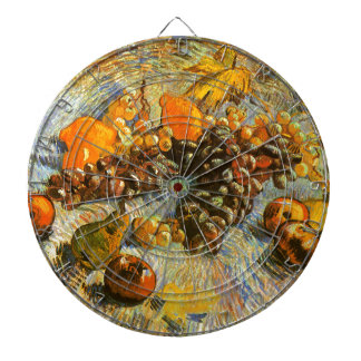 Still Life with Apples, Pears, Grapes - Van Gogh Dartboard With Darts