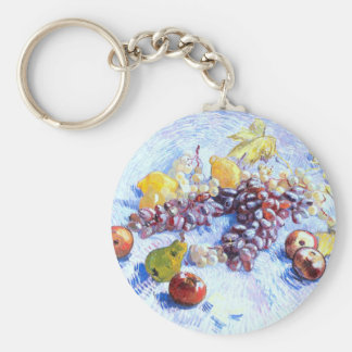 Still Life with Apples, Pears, Grapes - Van Gogh Keychain