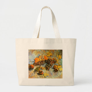 Still Life with Apples, Pears, Grapes - Van Gogh Large Tote Bag