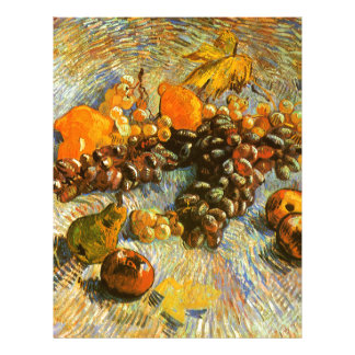 Still Life with Apples, Pears, Grapes - Van Gogh Letterhead