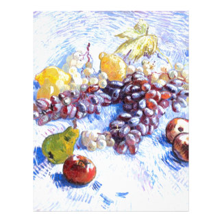 Still Life with Apples, Pears, Grapes - Van Gogh Letterhead