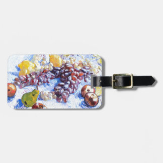 Still Life with Apples, Pears, Grapes - Van Gogh Luggage Tag