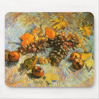 Still Life with Apples, Pears, Grapes - Van Gogh Mouse Pad