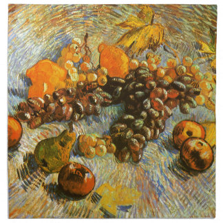 Still Life with Apples, Pears, Grapes - Van Gogh Napkin