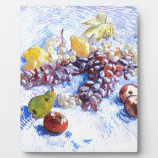 Still Life with Apples, Pears, Grapes - Van Gogh Plaque