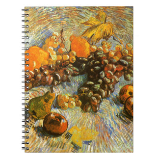 Still Life with Apples, Pears, Grapes - Van Gogh Spiral Notebook