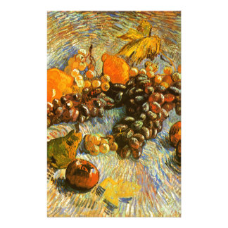 Still Life with Apples, Pears, Grapes - Van Gogh Stationery