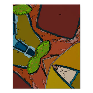 Still Life with Avacado Abstract Poster