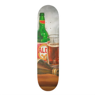 Still Life with Beer by Jennifer Goldberger Custom Skateboard