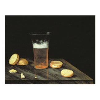 Still life with Beer Glass Postcard