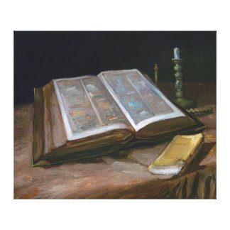 Still Life with Bible by Vincent Van Gogh (1885) Canvas Print