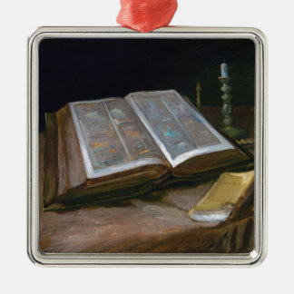 Still Life with Bible by Vincent Van Gogh (1885) Metal Ornament