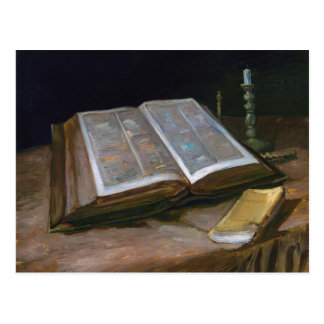 Still Life with Bible by Vincent Van Gogh (1885) Postcard