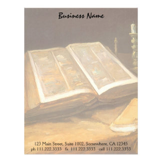 Still Life with Bible by Vincent van Gogh Letterhead