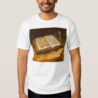 Still Life with Bible by Vincent van Gogh T-shirts