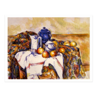 Still Life with Blue Pot by Paul Cezanne Postcard