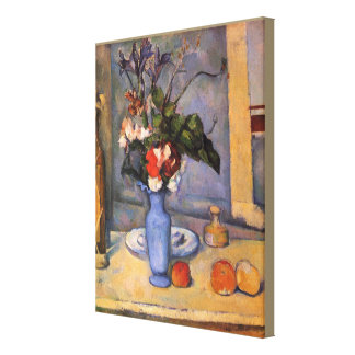 Still Life With Blue Vase by Paul Cezanne Canvas Print