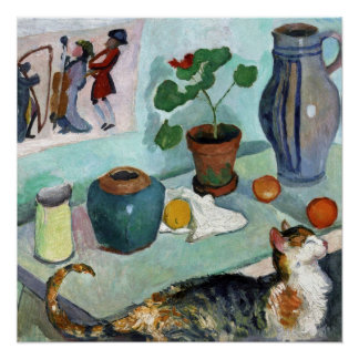 Still Life with Cat by August Macke Perfect Poster