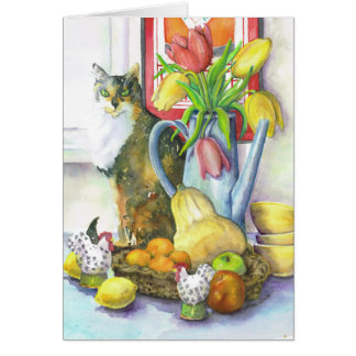 Still Life With Cat Card