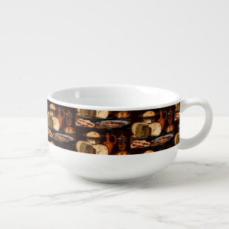 Still Life with Cheeses, Almonds and Pretzels Soup Mug