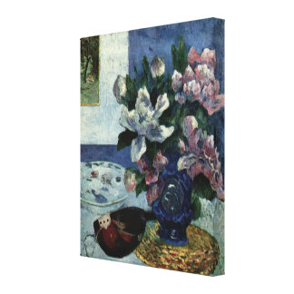Still Life with Chinese Peonies and Mandoline Canvas Print