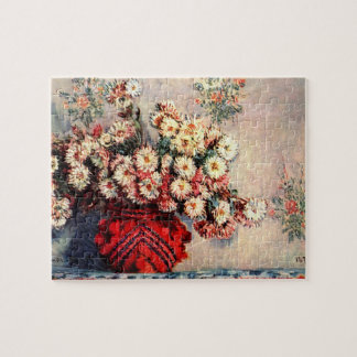 Still life with Chrysanthemums by Claude Monet Jigsaw Puzzle