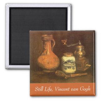 Still Life with Coffee Mill by Vincent van Gogh Magnet