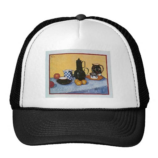 Still Life with Coffee Pot by Vincent Van Gogh Mesh Hats