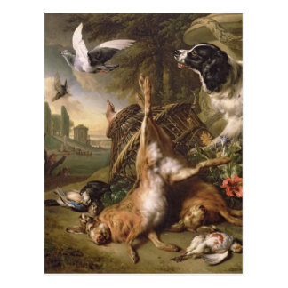 Still Life with Dead Game and Hares Postcard
