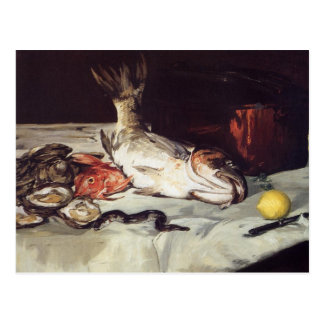 Still Life with Fish - Edouard Manet Postcard